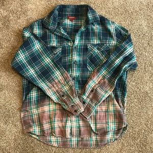 Men's flannel shirt- bleached